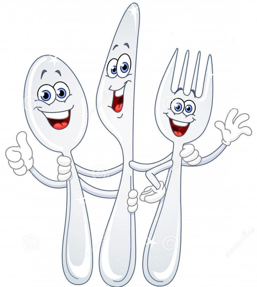 couteau-de-cuillere-et-dessin-anime-de-fourchette-19653887
